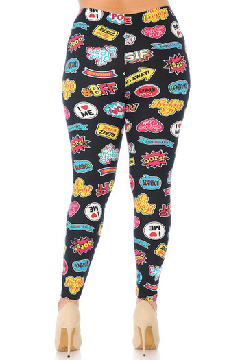 Wholesale - Buttery Soft Sassy Stickers Plus Size Leggings