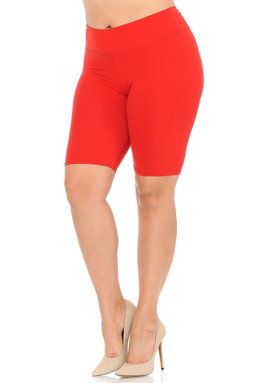 Wholesale - Buttery Soft Basic Solid Plus Size Shorts - 3 Inch