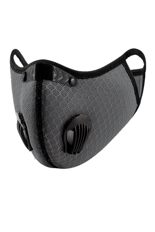 Wholesale - Charcoal Dual Valve Mesh Sport Face Mask with Activated Carbon Filter