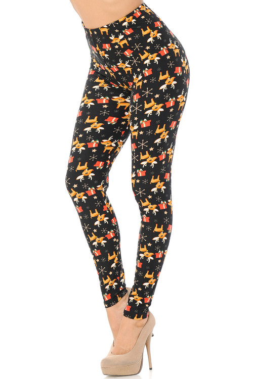 Wholesale - Buttery Soft Presents and Baby Reindeer Christmas Plus Size Leggings