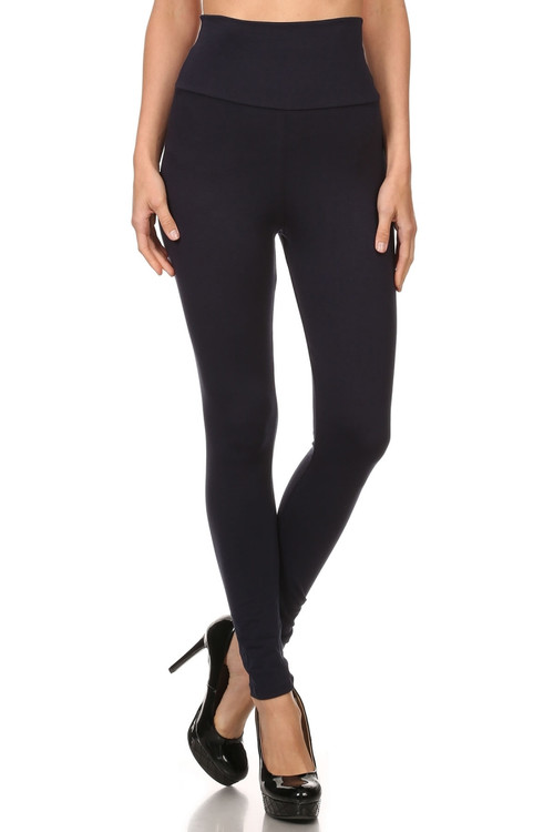 Front side image of Wholesale - USA High Waisted Cotton Leggings