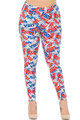 Wholesale - Buttery Soft All Over USA Leggings - Plus Size