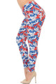 Wholesale - Buttery Soft All Over USA Plus Size Leggings