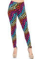Wholesale - Buttery Soft Flowing Rainbow Stars Leggings