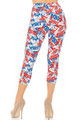 Wholesale - Buttery Soft All Over USA Capris