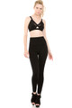 Front image of  Wholesale - Banded High Waisted Fleece Lined Leggings