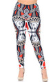 Wholesale - Creamy Soft Queen of Hearts Extra Plus Size Leggings - 3X-5X - USA Fashion™