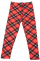 Wholesale - Buttery Soft Classic Red Plaid Kids Leggings