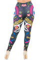 Wholesale - Creamy Soft Day of the Dead Leggings - Plus Size