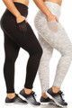 Wholesale - Buttery Soft Fitness Basic Leggings - Plus Size with Side Pockets
