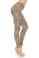 Wholesale - Buttery Soft Savage Leopard Extra Plus Size Leggings - 3X-5X