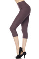 Wholesale - Buttery Soft Basic Solid High Waisted Capris - 5 Inch - New Mix