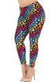 Wholesale - Buttery Soft Flowing Rainbow USA Stars Leggings - Plus Size