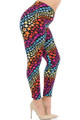 Wholesale - Buttery Soft Flowing Rainbow USA Stars Plus Size Leggings