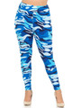 Wholesale - Buttery Soft Blue Camouflage High Waisted Plus Size Leggings - EEVEE