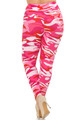 Wholesale - Buttery Soft Pink Camouflage High Waisted Plus Size Leggings - EEVEE