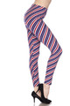 Wholesale - Buttery Soft Spiral Stars and Stripes Plus Size Leggings