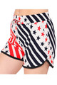 Wholesale - Buttery Soft Twirling USA Flag Dolphin Shorts