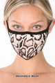 Brown Wholesale - Snakeskin Face Mask - Imported