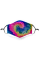 Wholesale - Colorful Twisting Tie Dye Graphic Print Face Mask