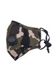 Wholesale - Camouflage Air Valve Face Mask with Nose Bar