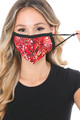 Wholesale - Red Melt Graphic Print Face Mask