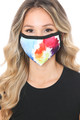 Wholesale - Watercolor Swirl Graphic Print Face Mask