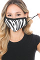 Wholesale - Zebra Groove Graphic Print Face Mask