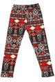 Wholesale - Buttery Soft Red Tribal Kids Leggings