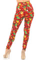 Wholesale - Buttery Soft Ruby Red Christmas Stocking Leggings