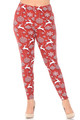 Wholesale - Buttery Soft Jumping Christmas Reindeer Extra Plus Size Leggings - 3X-5X