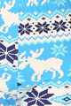 Wholesale - Buttery Soft Icy Blue Christmas Reindeer Extra Plus Size Leggings - 3X-5X
