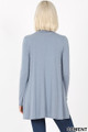 Back image of Cement Wholesale - Long Sleeve Mock Neck Top with Pockets
