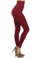 Right Side Image of Wholesale - USA High Waisted Cotton Leggings