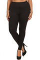 Front side image of Wholesale - USA Cotton Full Length Leggings - Plus Size