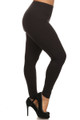 Right Side Image of Wholesale - USA Cotton Full Length Leggings - Plus Size