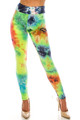 Wholesale - Buttery Soft Summer Yellow Tie Dye High Waisted Leggings - Plus Size