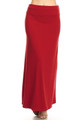 Wholesale - Buttery Soft Solid Red Maxi Skirt