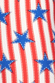 Wholesale - Buttery Soft Vertical Stars on Stripes Capris