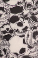 Close-up fabric image of Wholesale - Buttery Soft White Layers of Skulls Leggings