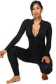 Wholesale - Full Basic Seamless Jumpsuit with Half Center Zip