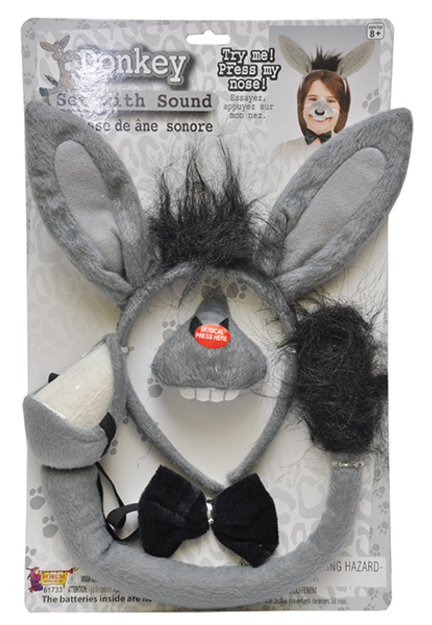 Democratic Party Donkey Disguise Kit Headband Nose Costume Accessory Adult