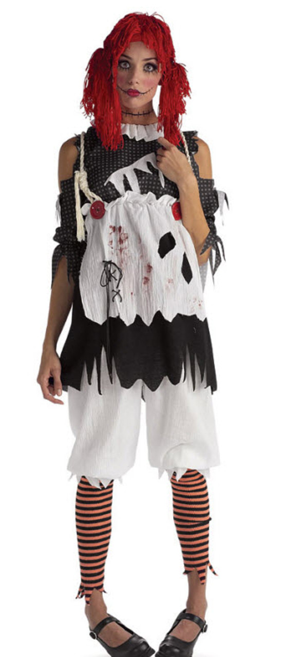 Zombie Rag Doll Adult Womens Childs Girls Make Up Halloween Fancy Dress Costume