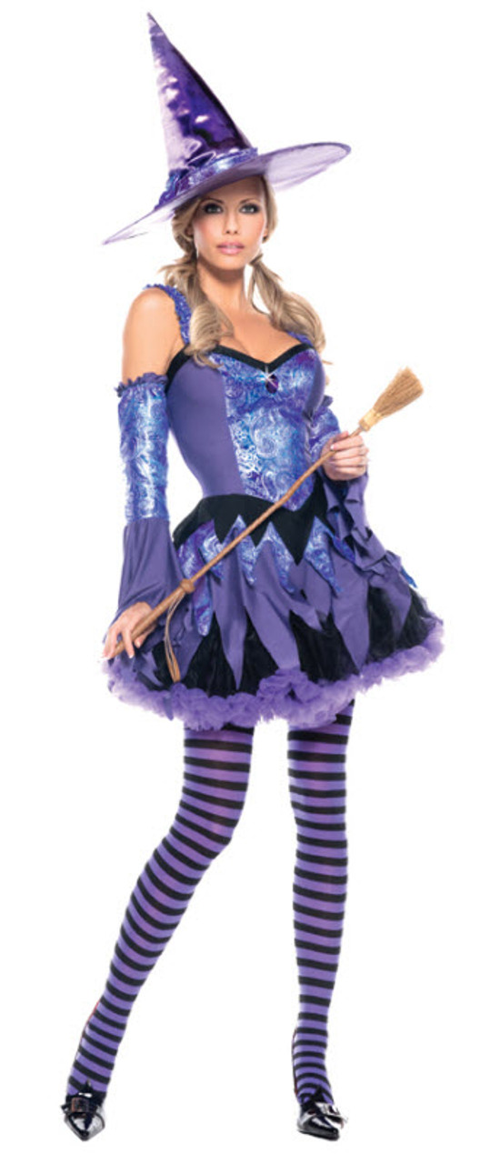 Black Purple Witch Wizard Maleficent Halloween Costume Shoes Womans size 6 7 8 9