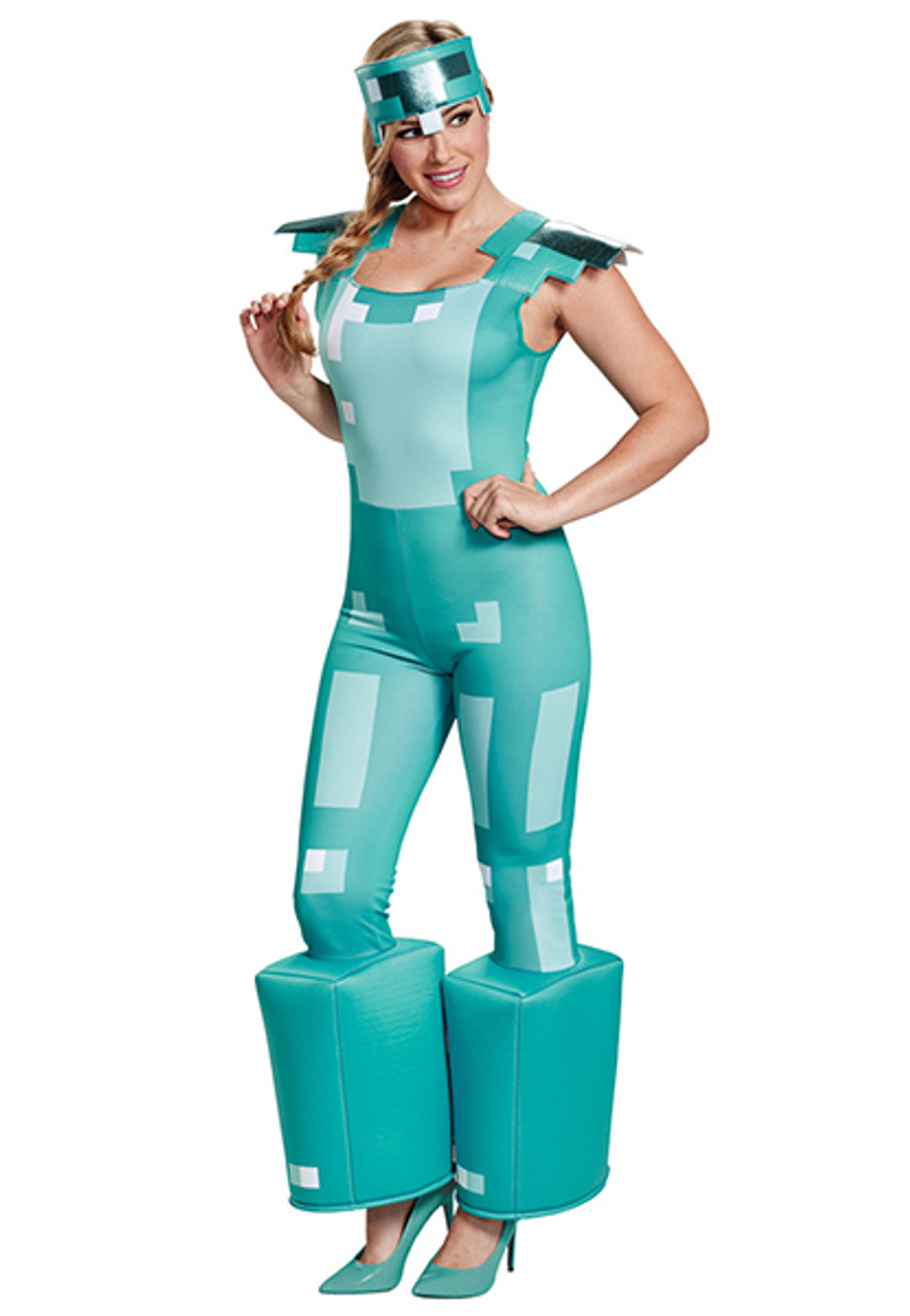6e5e618cfc90 Women's Minecraft Armor Costume - Halloween Express