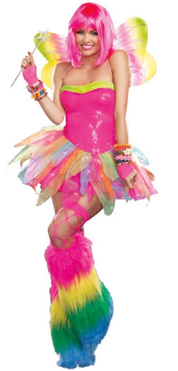 Women s Rainbow Fairy Costume - Halloween Express 1e09f5a69b