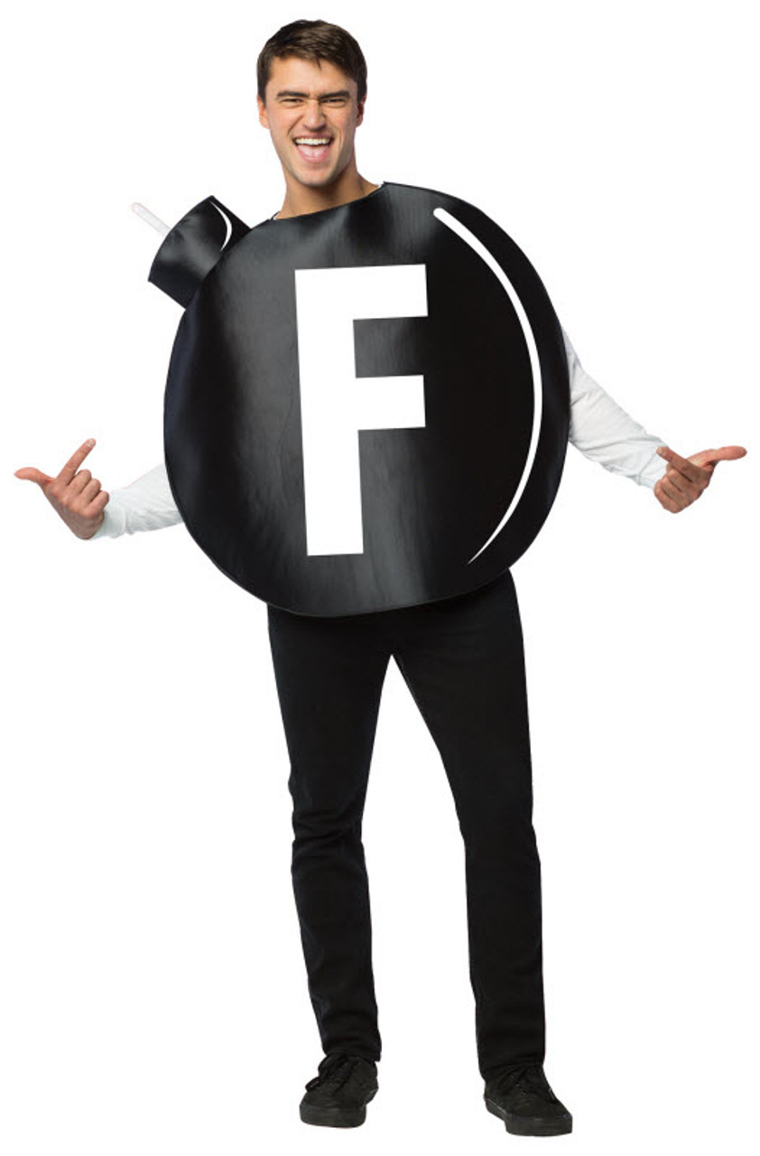 Funny Halloween Costume One Size New Rasta Imposta F Bomb Disguise
