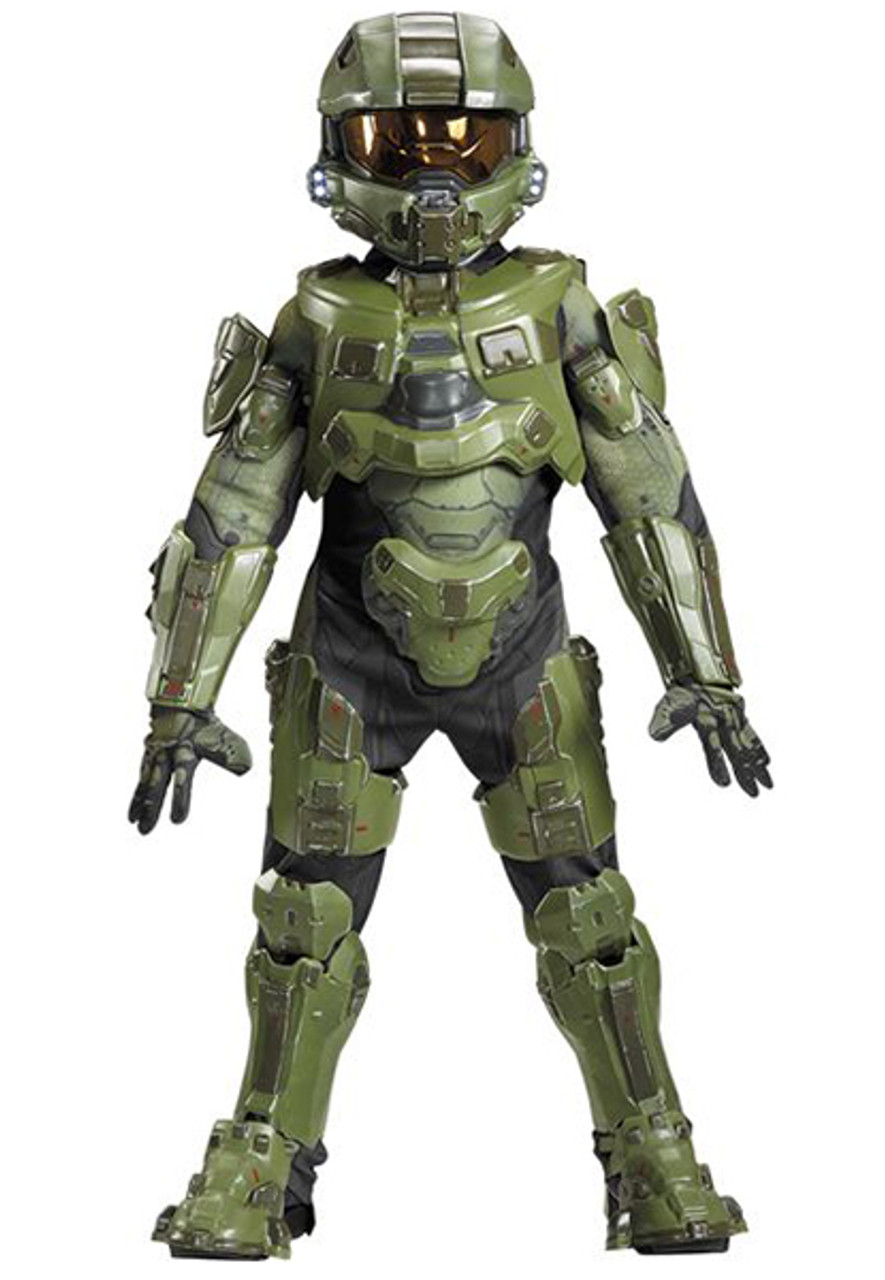 Master Chief Halo Spartan Soldier Child Boot Covers Costume Accessory