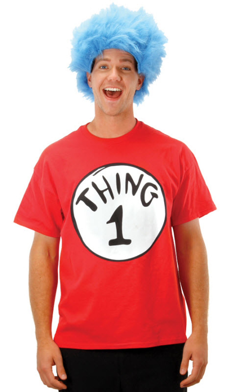 Dr. Seuss Thing 1 Adult Costume Kit - Halloween Express e7aea0c7a