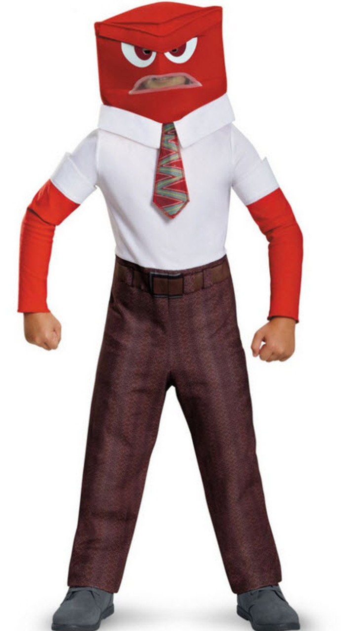 Inside Out Anger Classic Boy's Costume